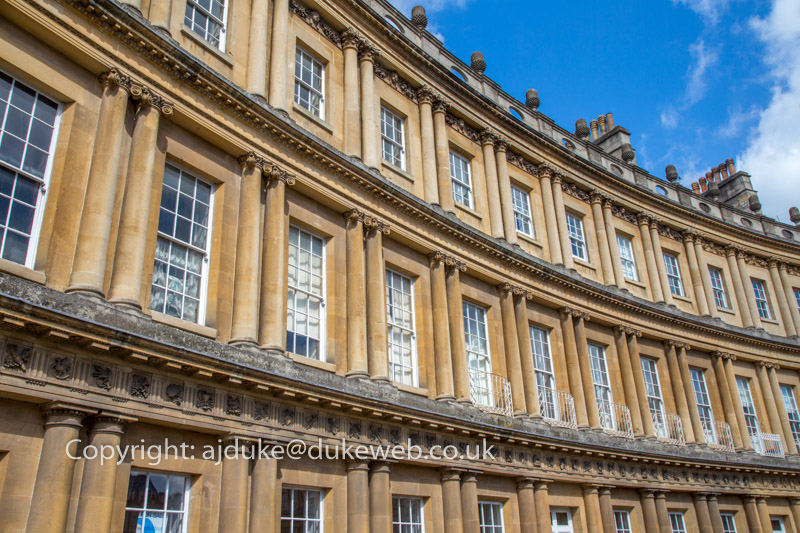 Townhouses in The Circus, Bath, Somerset