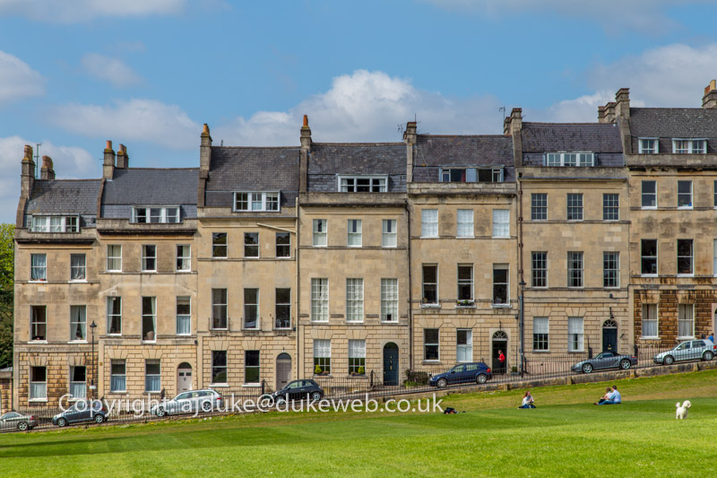 Townhouses next to the Royal Crescent, Bath, Somerset