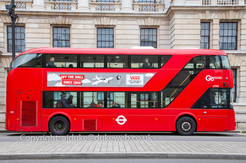 London New Routemaster double-decker red bus