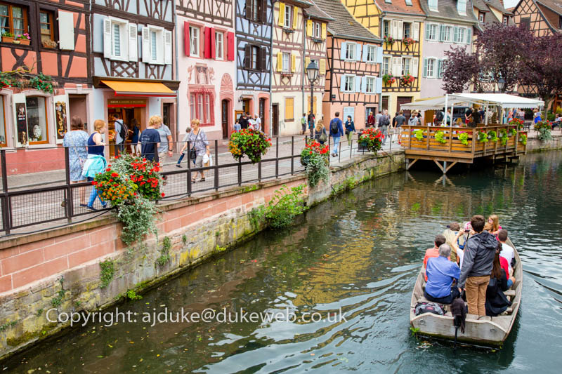 "half-timbered houses in ""little Venice"", Colmar, Alsace, France"