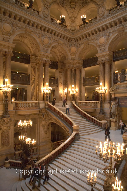 Interior of the Palais Garnier, the Paris Opera