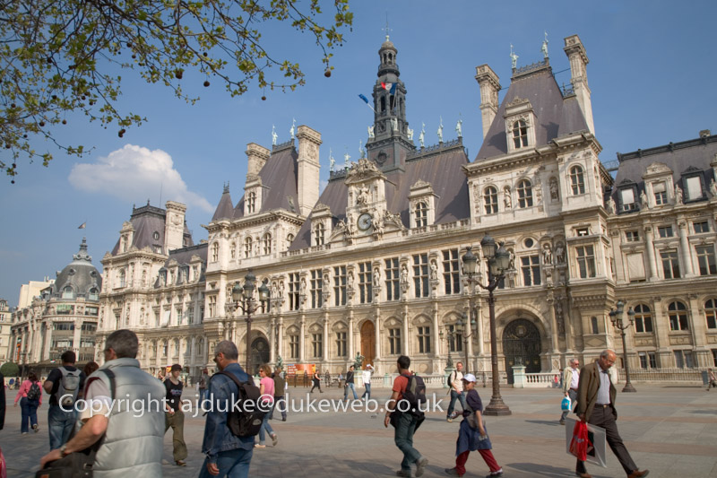 Hotel de Ville, the town hall, Paris