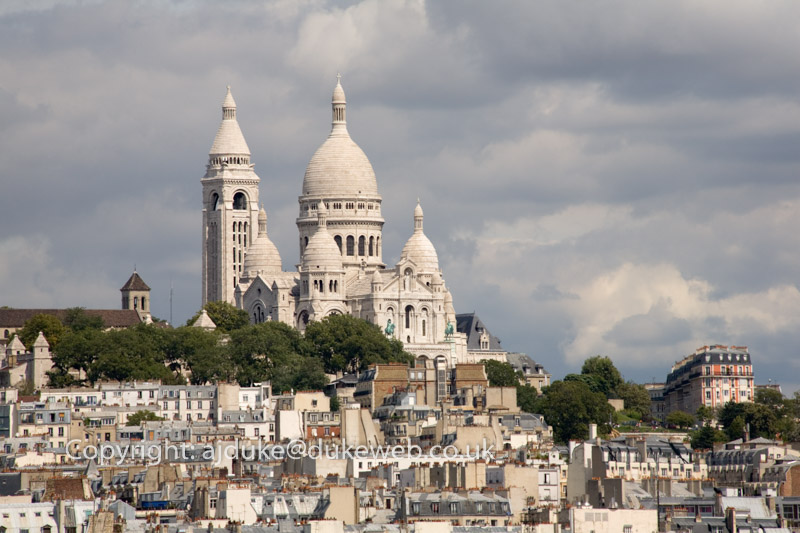 The Sacre Coeur church in Montmartre Paris