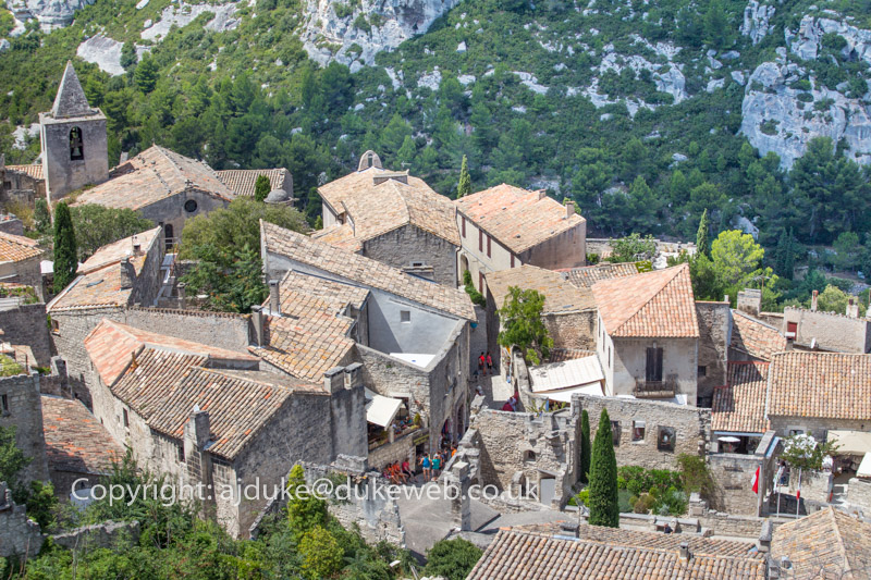 Pretty hilltop village of Les Baux de Provence, Provence, France