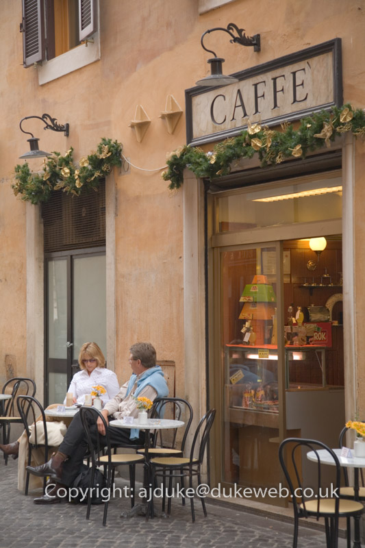 Cafe in Rome, Italy