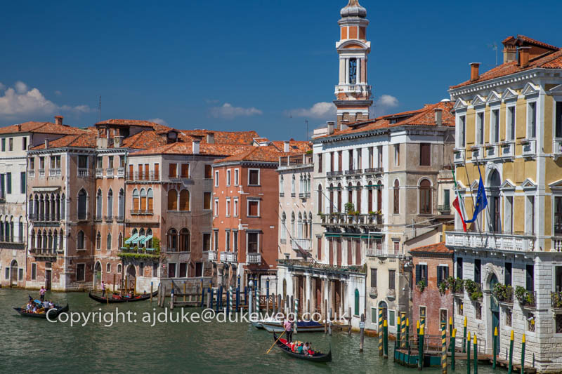 Venice Grand Canal and gondola