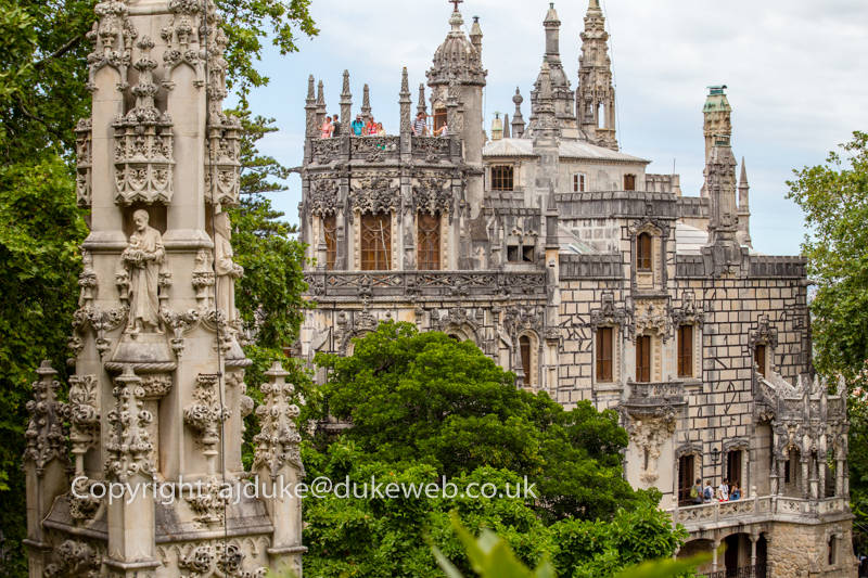 The neo-manueline house at Quinta da Regaleira, Sintra, Portugal