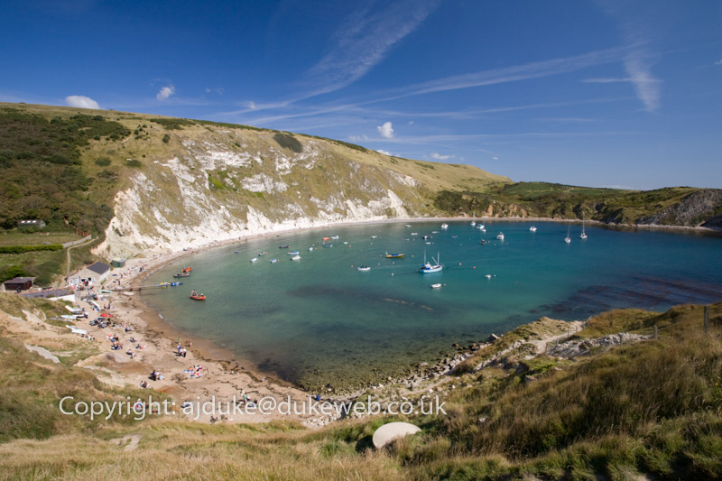 Lulworth Cove, Dorset, Jurassic Coast World Heritage Site, England, UK