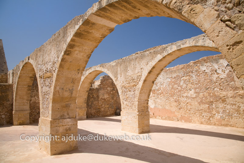Storage magazines, Rethymno Fort, Crete, Greece