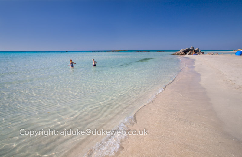 Elafonisi beach famous for pink sand, Crete, Greece