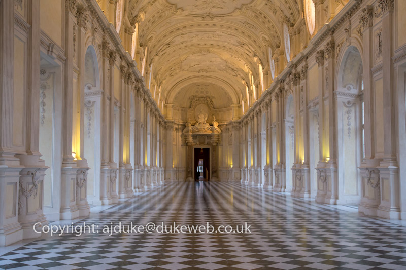 Galleria di Diana in the Reggia di Venaria Reale, the Savoy royal palace, Turin, Italy