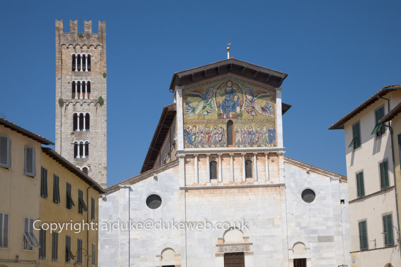 Basilica di San Frediano with Byzantine mosaic, Lucca, Tuscany, Italy