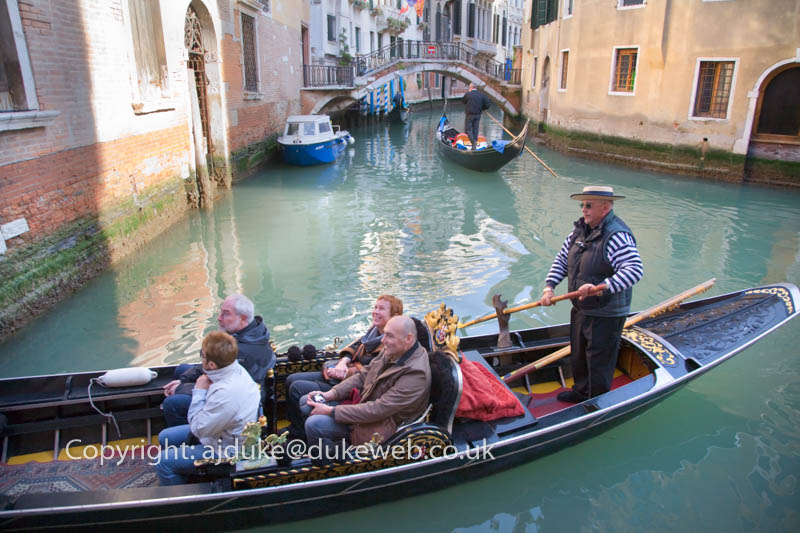 Gondola in the canals of Venice